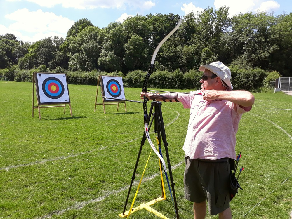 Resident VI archer Jim showing us how it's done